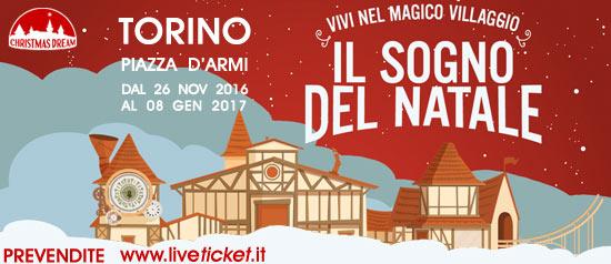 Il sogno del Natale in Piazza d'Armi a Torino