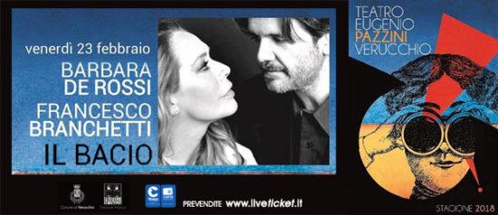 Barbara De Rossi e Francesco Branchetti - Il Bacio al Teatro Pazzini di Verucchio