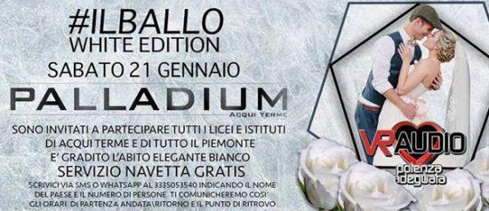 """Il ballo """"White edition"""" al Palladium di Acqui Terme"""