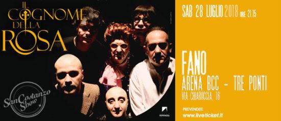 """San Costanzo Show """"Il cognome della Rosa"""" all'Arena BCC a Fano"""