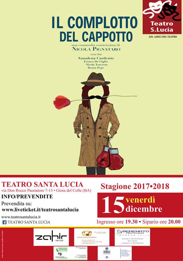 Il complotto del cappotto al Teatro Santa Lucia di Gioia del Colle