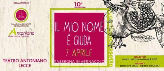 Il mio nome è Giuda al Teatro Antoniano di Lecce