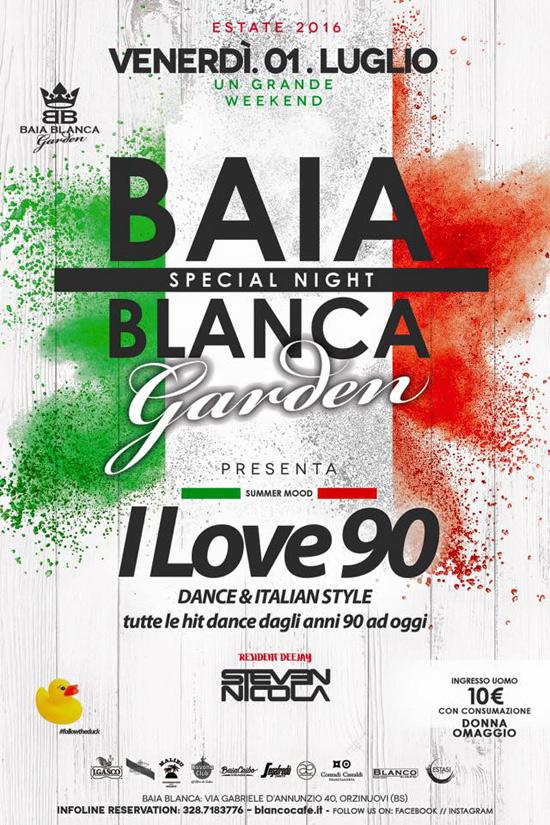 I love 90 al Baia Blanca Garden di Orzinuovi