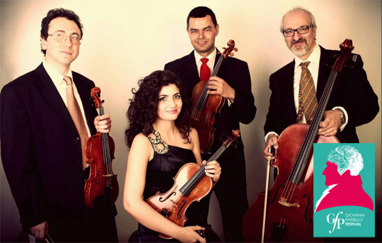 """Quartetto d'Archi """"Il Partimento"""" al Giovanni Paisiello Festival a Taranto"""