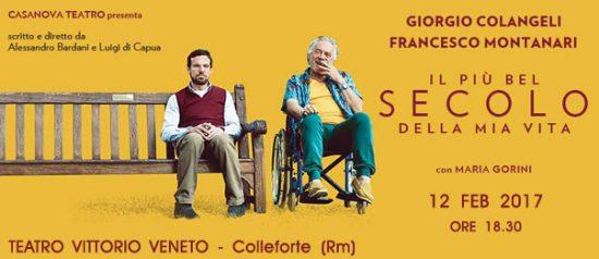 Il più bel secolo della mia vita al Teatro Vittorio Veneto di Colleferro