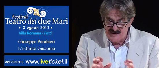 """Giuseppe Pambieri """"L'infinito Giacomo"""" alla Villa Romana di Patti"""