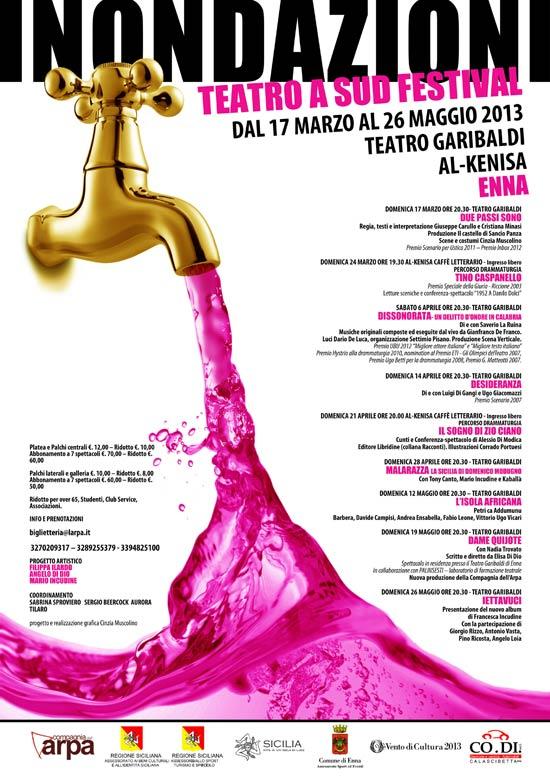 """""""Inondazioni – Teatro a Sud"""" Festival al Teatro Garibaldi di Enna"""