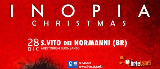 """Gio Evan """"Christmas Inopia"""" all'Auditorium Buonsanto a San Vito dei Normanni"""