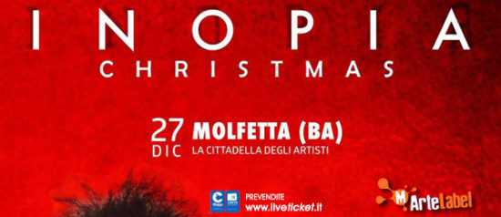 """Gio Evan """"Christmas Inopia"""" a La Cittadella degli Artisti a Molfetta"""