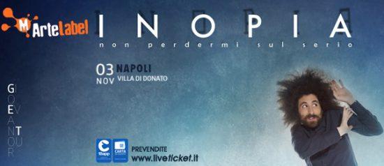 """Gio Evan """"Inopia"""" a Villa Donato di Napoli"""