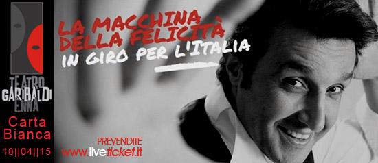 """Flavio Insinna """"La macchina della felicità"""" al Teatro Garibaldi di Enna"""