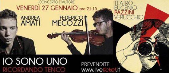 """""""Io sono uno. Ricordando Tenco"""" al Teatro Pazzini di Verucchio"""