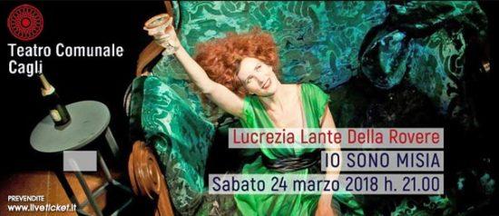 """Lucrezia Lante Della Rovere """"Io sono Misia"""" al Teatro Comunale di Cagli"""