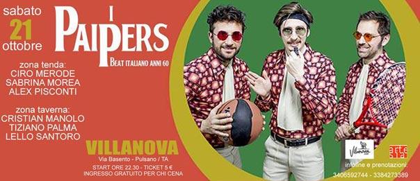 I Paipers live - beat '60 al Villanova di Pulsano