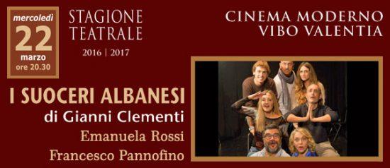 "Emanuela Rossi, Francesco Pannofino ""I suoceri albanesi"" al Teatro Moderno di Vibo Valentia"