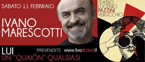 "Ivano Marescotti ""Lui. Un ""quaión"" qualsiasi"" al Teatro Pazzini di Verucchio"