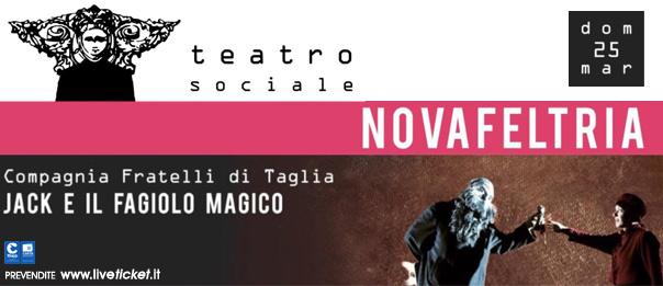 Jack e il fagiolo magico al Teatro Sociale di Novafeltria