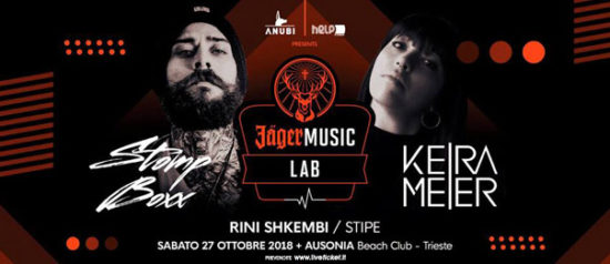 Helpiscoming - JagerMusic lab with Stomp Boxx - Keira Meier all'Ausonia Beach Club di Trieste