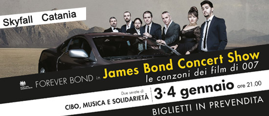 James Bond Concert Show al Skyfall Catania