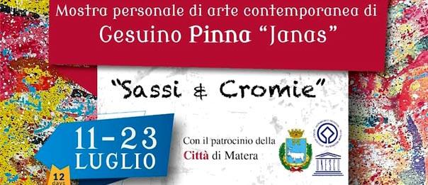 """Mostra """"Sassi & Cromie"""" Gesuino Pinna alla Biblioteca provinciale Tommaso Stigliani a Matera"""
