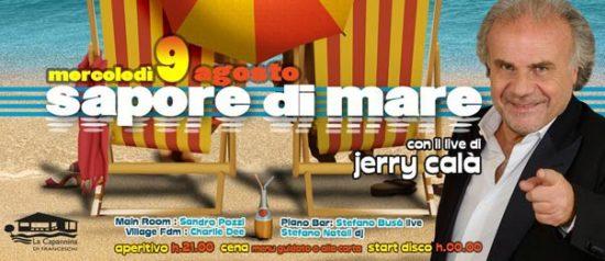 """Jerry Calà """"Sapore di mare"""" alla Capannina di Forte dei Marmi"""