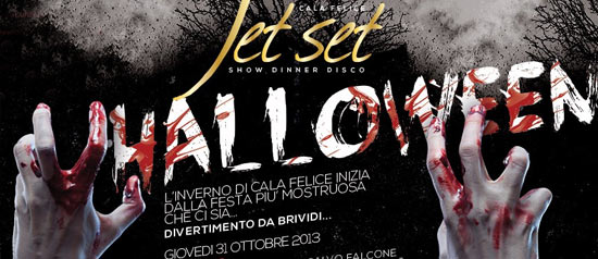 Jet Set Halloween al Cala Felice Beach Club di Scarlino