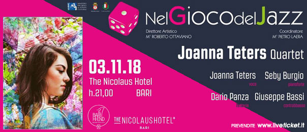 Joanna Teters quartet al The Nicolaus Hotel a Bari