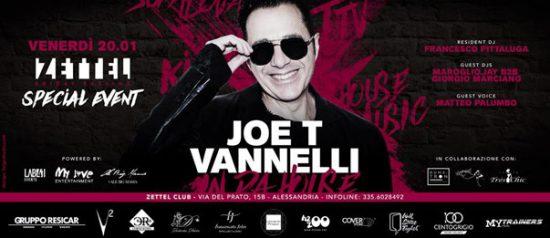 Joe T. Vannelli al Zettel Club di Alessandria
