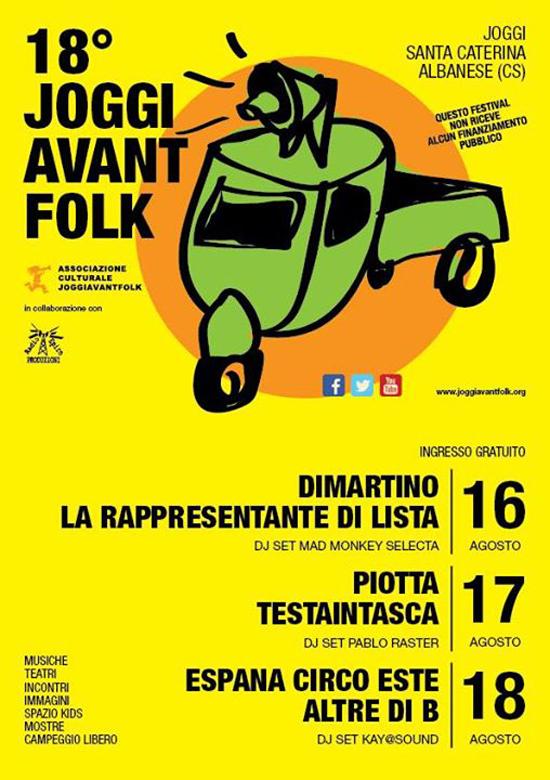 Joggi Avant Folk a Santa Caterina Albanese di Joggi