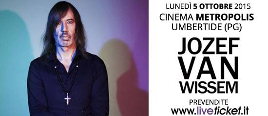 Jozef Van Wissem in concerto al Cinema Metropolis di Umbertide