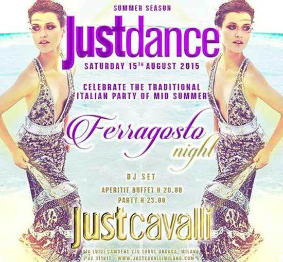 Justdance Ferragosto Night al Just Cavalli Club di Milano