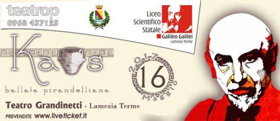 """Gran Galà delle scuole """"Kaos"""" al Teatro Grandinetti di Lamezia Terme"""