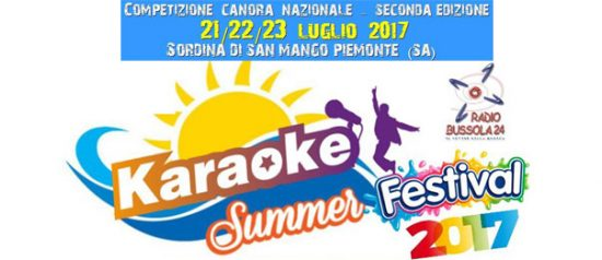 Karaoke Summer Festival a Sordina di San Mango Piemonte