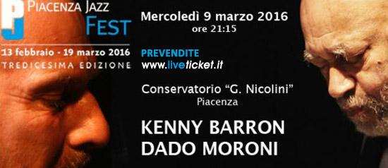 Kenny Barron e Dado Moroni al Conservatorio Nicolini