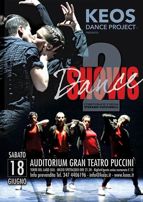 """Keos Dance Project """"2 dance Shows""""al Gran Teatro Puccini di Torre Lago"""