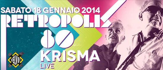 "Retropolis anni '80 ""Krisma"" live al Velvet di Rimini"
