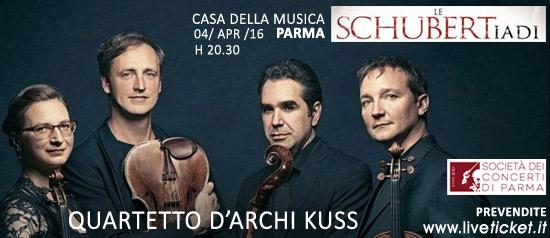 """Quartetto d'archi Kuss """"La morte e la fanciulla"""" alla Casa della Musica di Parma"""