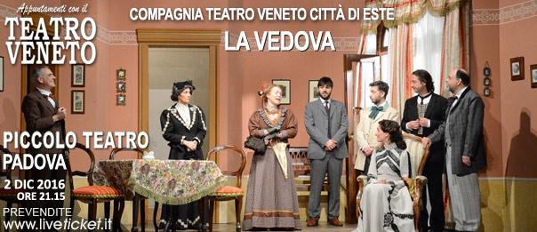 """""""La vedova"""" al Piccolo Teatro di Padova"""