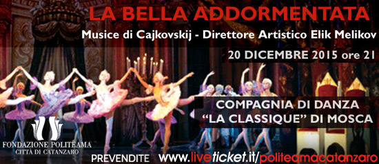 """""""La bella addormentata"""" al Teatro Politeama di Catanzaro"""