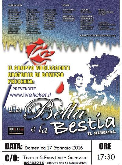 La bella e la bestia al Cinema Teatro San Faustino di Sarezzo