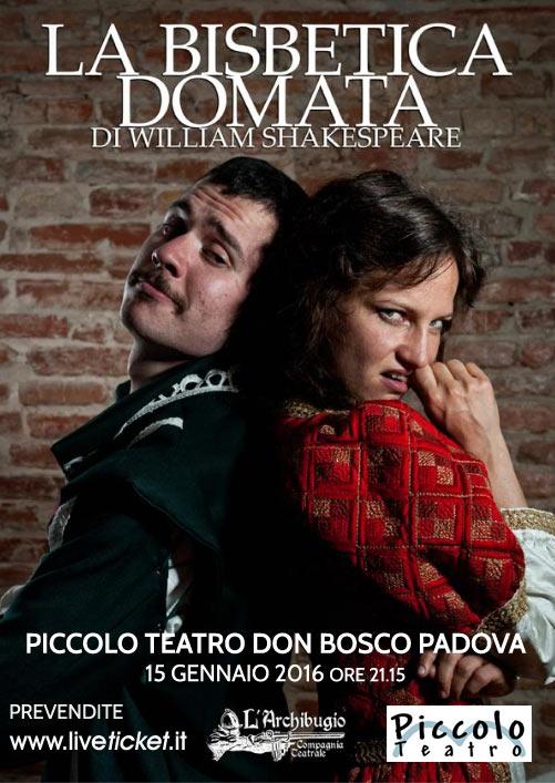 """""""La bisbetica domata"""" al Piccolo Teatro di Padova"""