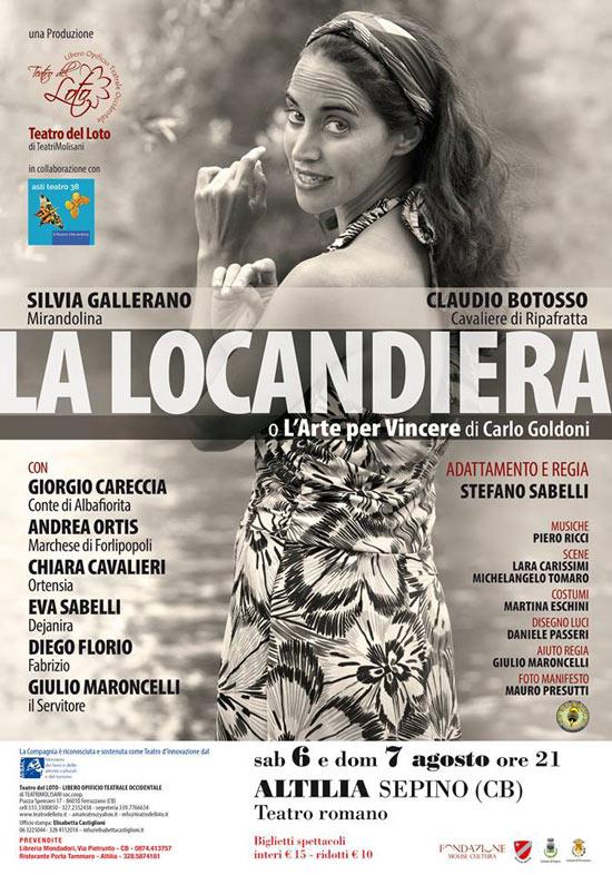 """""""La Locandiera"""" a Terra d'Arte estate 2016 al Teatro Romano di Altilia a Sepino"""