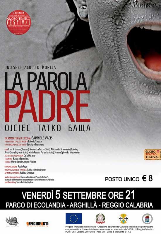 La parola padre al Globo Teatro Festival a Reggio Calabria
