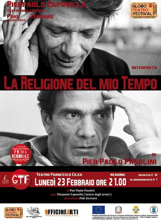 """""""La religione del mio tempo"""" al Globo Teatro Festival a Reggio Calabria"""