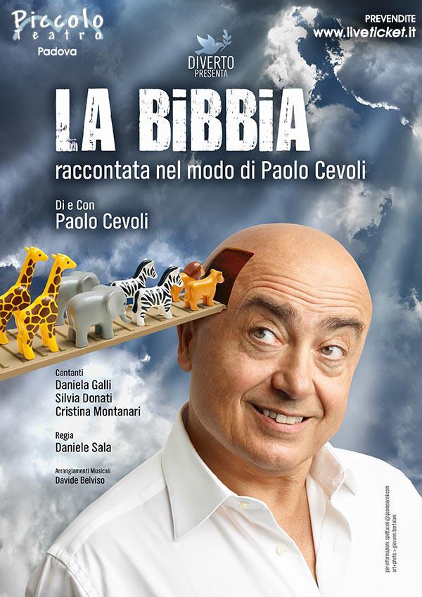 La Bibbia raccontata nel modo di Paolo Cevoli al Piccolo Teatro di Padova