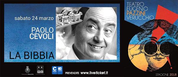 Paolo Cevoli - La Bibbia al Teatro Pazzini di Verucchio