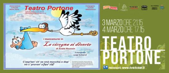 La cicogna si diverte al Teatro Portone di Senigallia