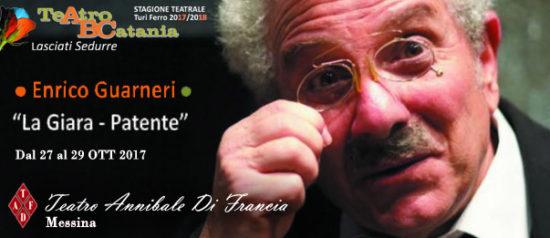 """Enrico Guarnieri """"La giara - La patente"""" al Teatro Annibale di Francia a Messina"""