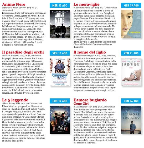 Cinema Lamezia Summertime 2015 a Lamezia Terme