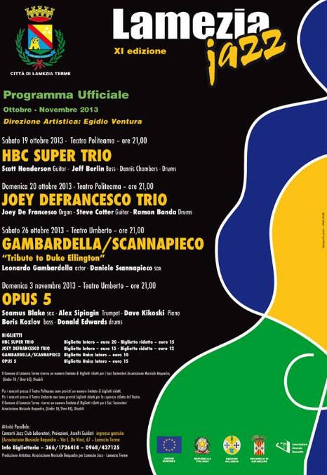 Lamezia Jazz Festival al Teatro Politeama e al Teatro Umberto di Lamezia Terme